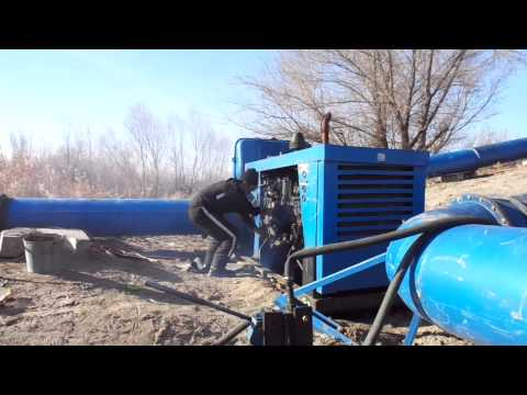 Starting irrigation engine in Kazakhstan