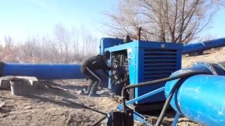 Starting irrigation engine in Kazakhstan