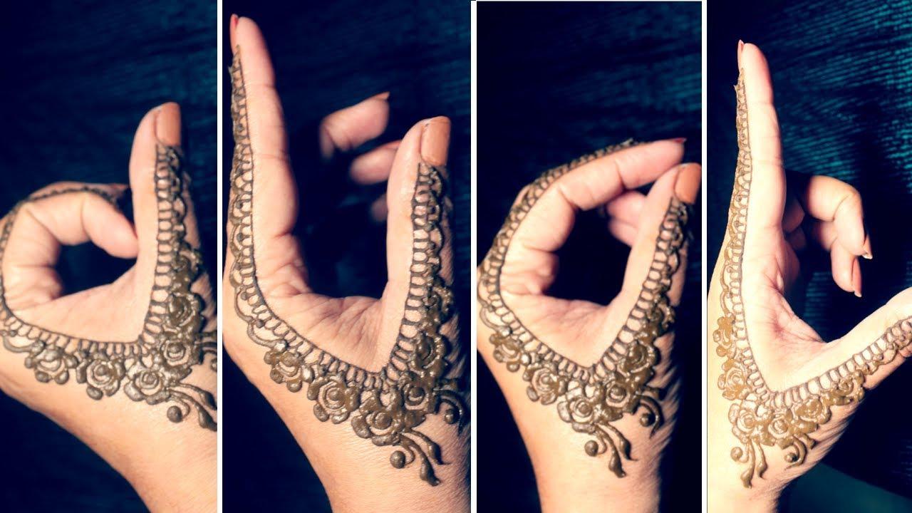 Mehndi Bunch On Arm : Diyeasy finger mehndi design new style