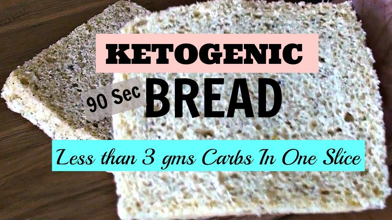 90 Sec Microwave Keto Bread | Ketogenic | LCHF | Low Carb - YouTube