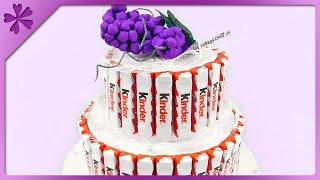 DIY Kinder Chocolate Cake for First Communion (ENG Subtitles) - Speed up #209