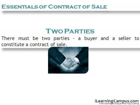 Chapter  Essentials Of Contract Of Sale Under The Sale Of Goods