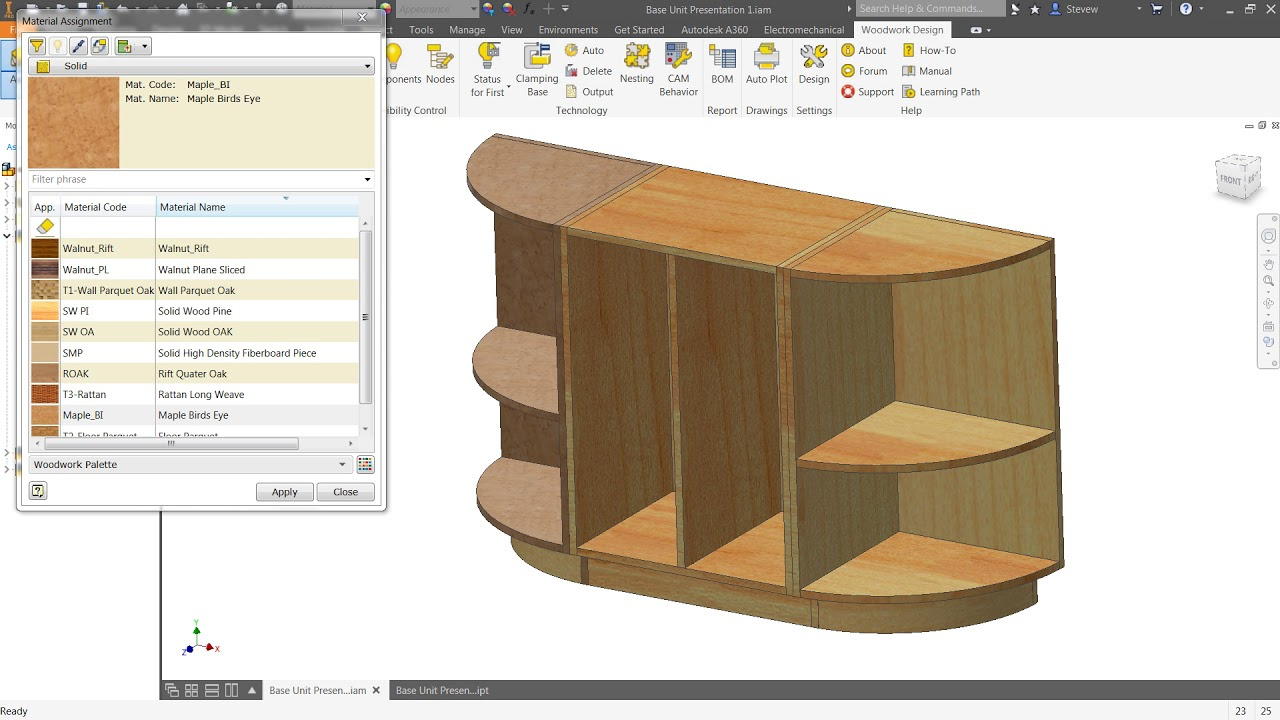 seminar series 2018 #2 autodesk inventor joinery work plane development