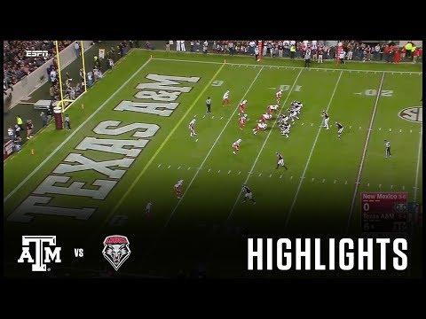 Football Highlights   Texas A&M vs. New Mexico