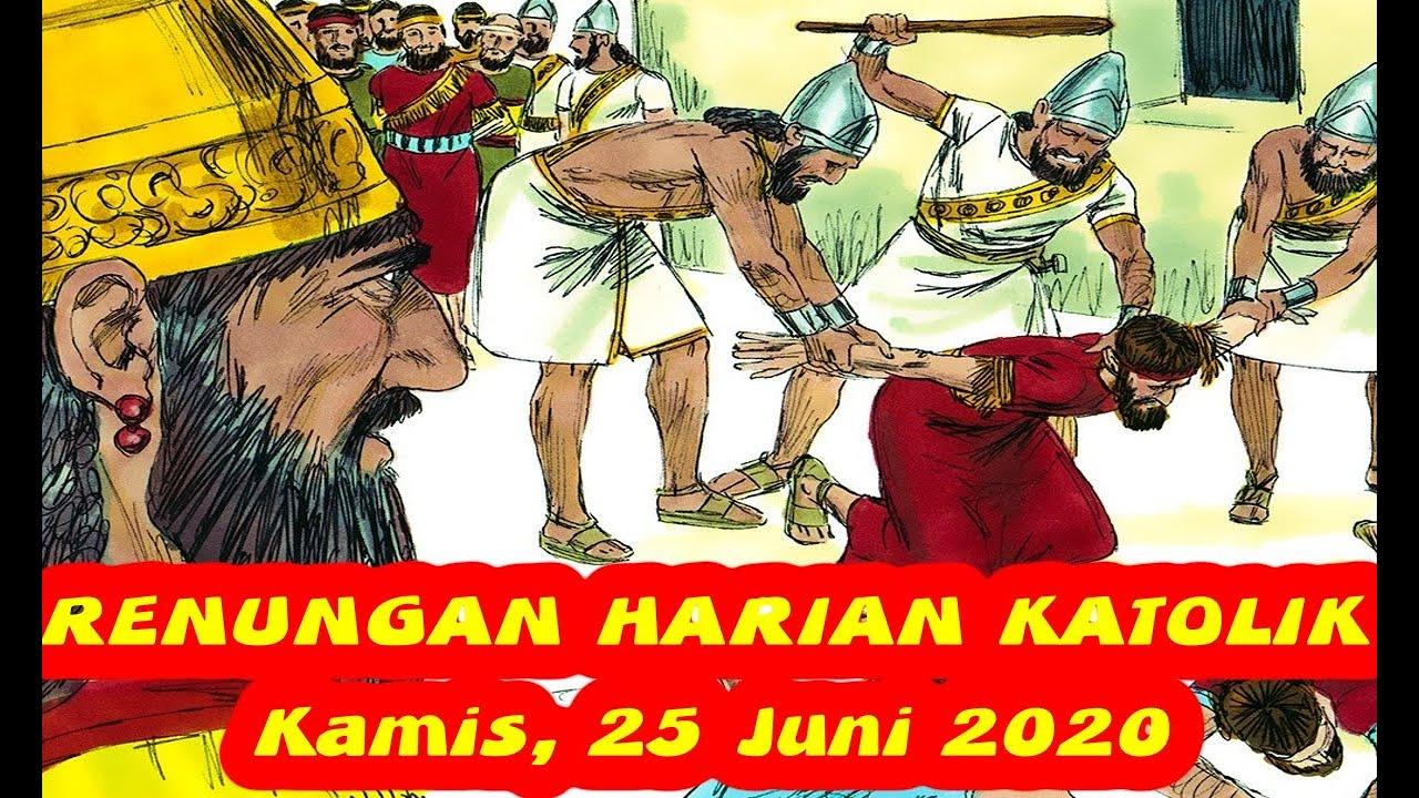 Renungan Harian Katolik Hari Ini Kamis 25 Juni 2020 | Renungan Katolik