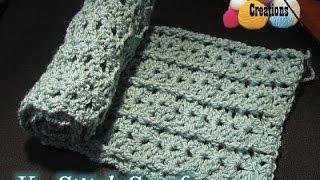 V stitch Scarf - Crochet Tutorial