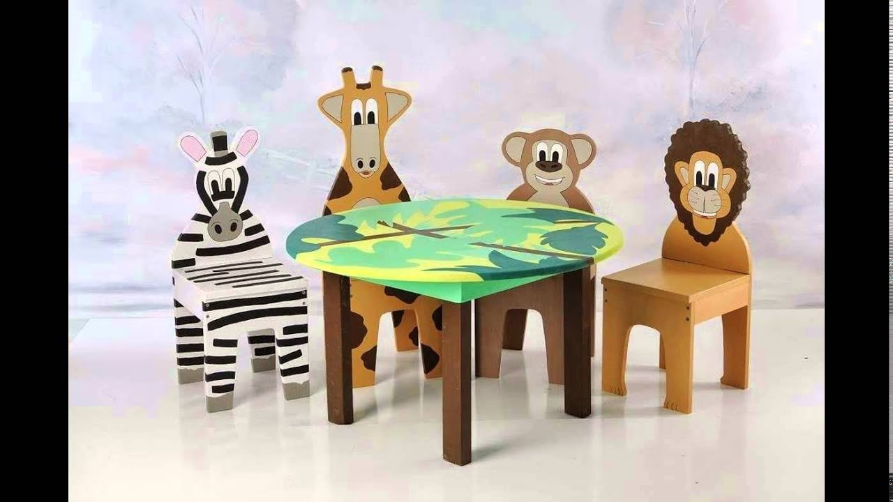 CHILDRENS PLASTIC TABLE AND CHAIR SET - YouTube