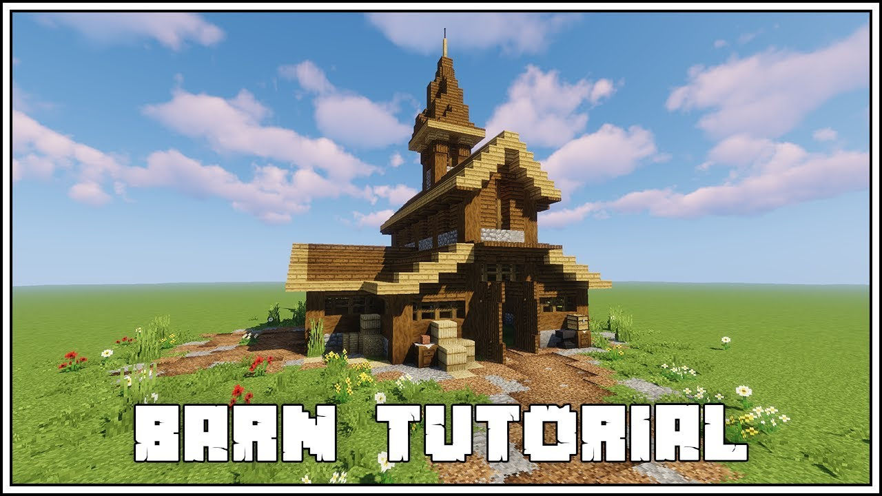 Minecraft Tutorial How To Build a Barn - YouTube