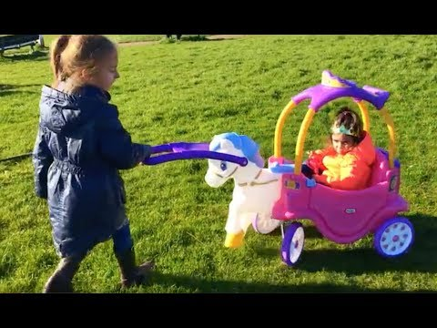 Thumbnail: Princess Carriage Ride On / Fun Playground For Kids