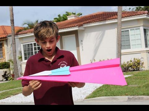 worlds biggest paper airplane!!