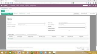 [Odoo 10]  Lec 13 : Sales Order