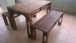 COSTRUIRE UNA PANCHINA CON I PALLETS - Bench made from pallets