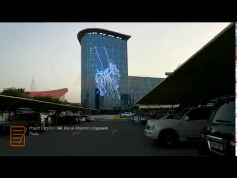 Glass Wall LED Transparent Screen Project - UAE Playground