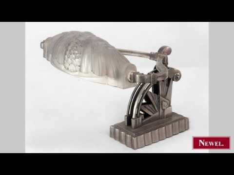 Antique French Art Deco nickel plate adjustable desk lamp