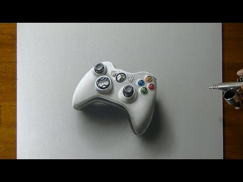 Drawing Time Lapse: Xbox 360 Controller – hyperrealistic art