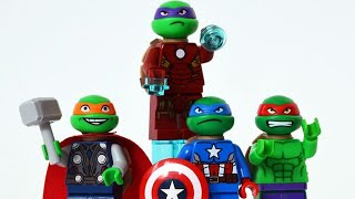 LEGO Wrong Brick Bodies with TMNT 🐢🍕 Ninja Turltes as Avengers