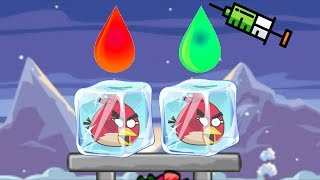 Unfreeze Angry Birds - DROPPING COLOR WATER TO RESCUE THE FROZEN ANGRY BIRDS FULL!!