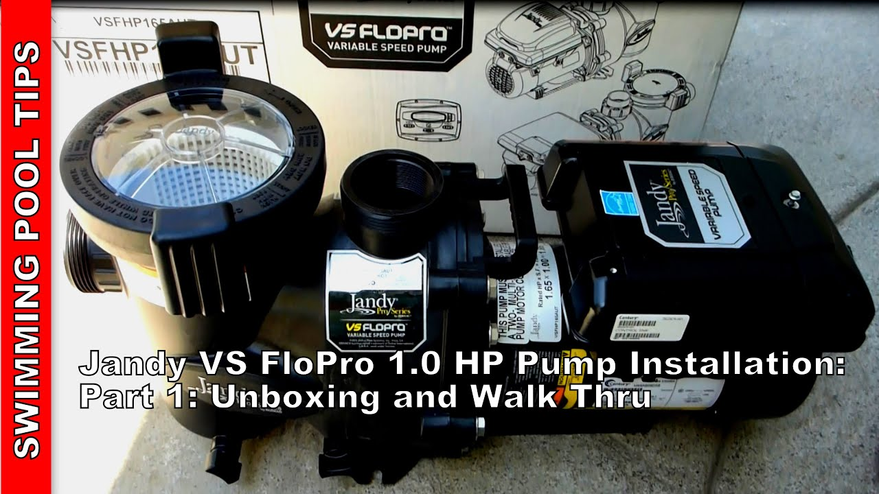 jandy vs flopro 1 0 hp variable speed pump installation part one rh youtube com Jandy Stealth Pump Parts Jandy Pool Pumps System