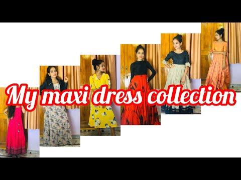 My maxi dresses and customised dresses ||telugu||
