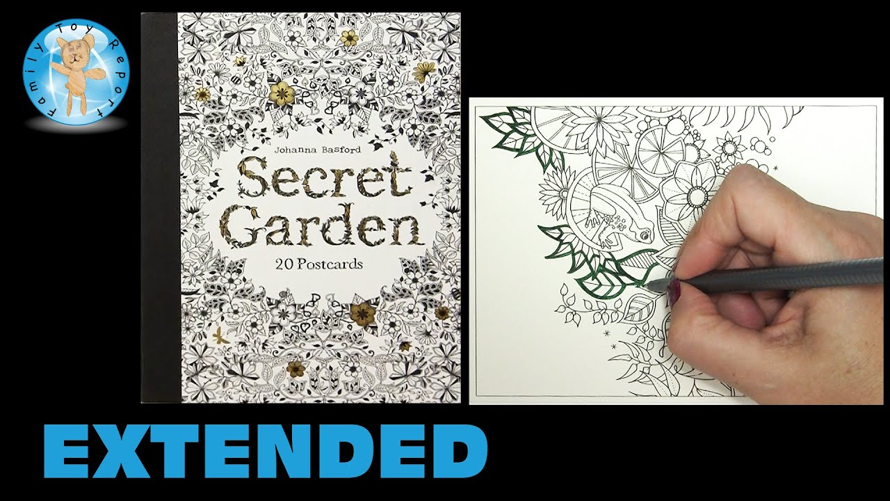 Secret Garden By Johanna Basford Adult Coloring Book Postcards Frog Extended
