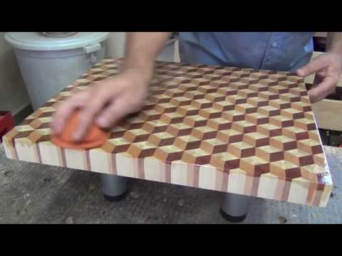 3D end grain cutting board #2: short version for Instagram