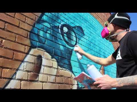 Swan Dance Street Art Graffiti Montana 94 Spray Paint Mural