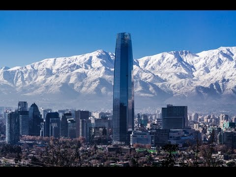 Santiago, is the capital and largest city of Chile,  cityscape, Mapocho River,  Andes Mountains