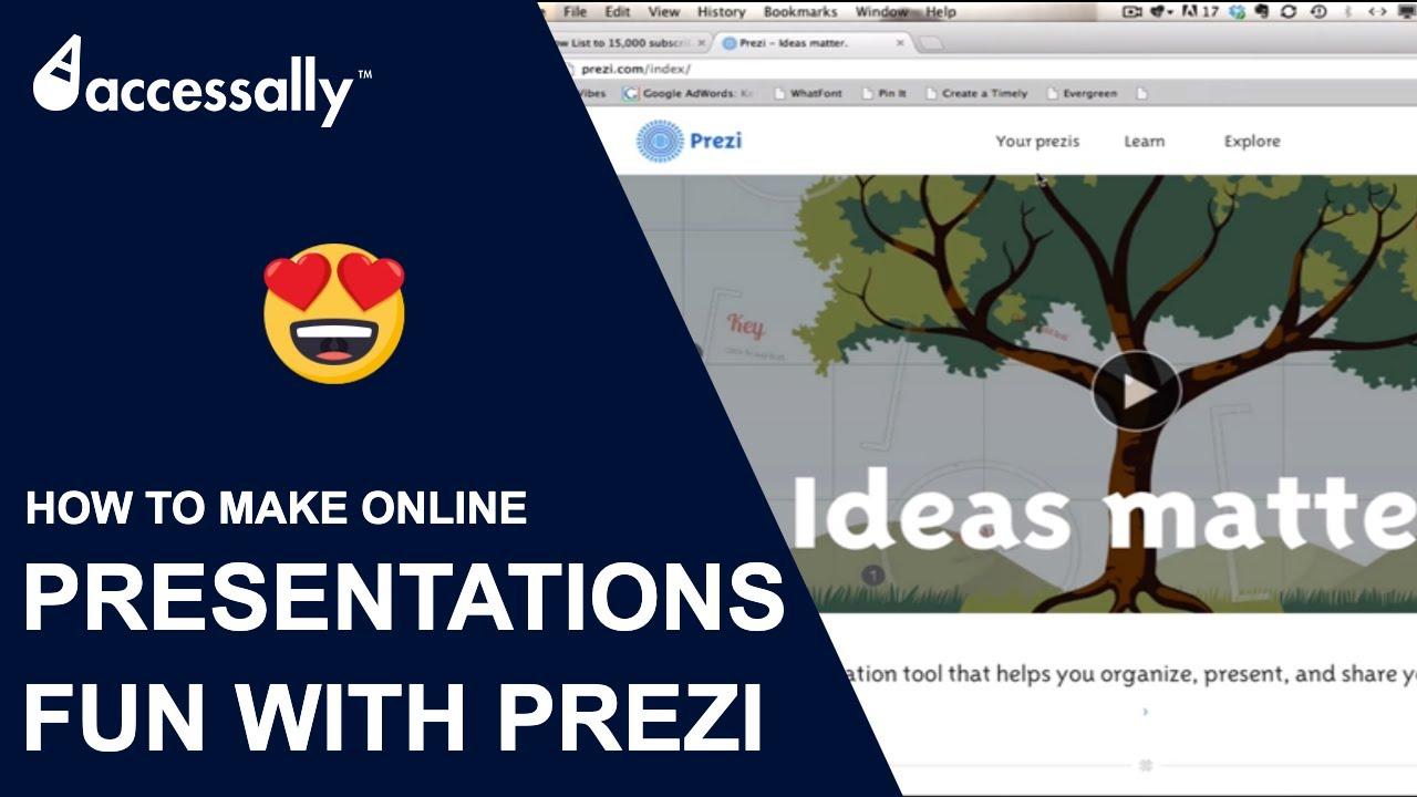 how to create a prezi presentation youtube