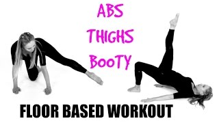 Ab, Thigh & Booty Floor Based Toning Workout - no impact and suitable for every fitness level