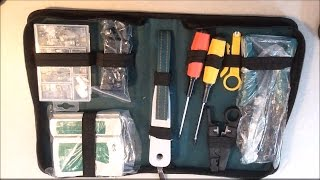 MTC Tools - Network Tool Kit, Cable Tester, Crimper & Stripper Set Review