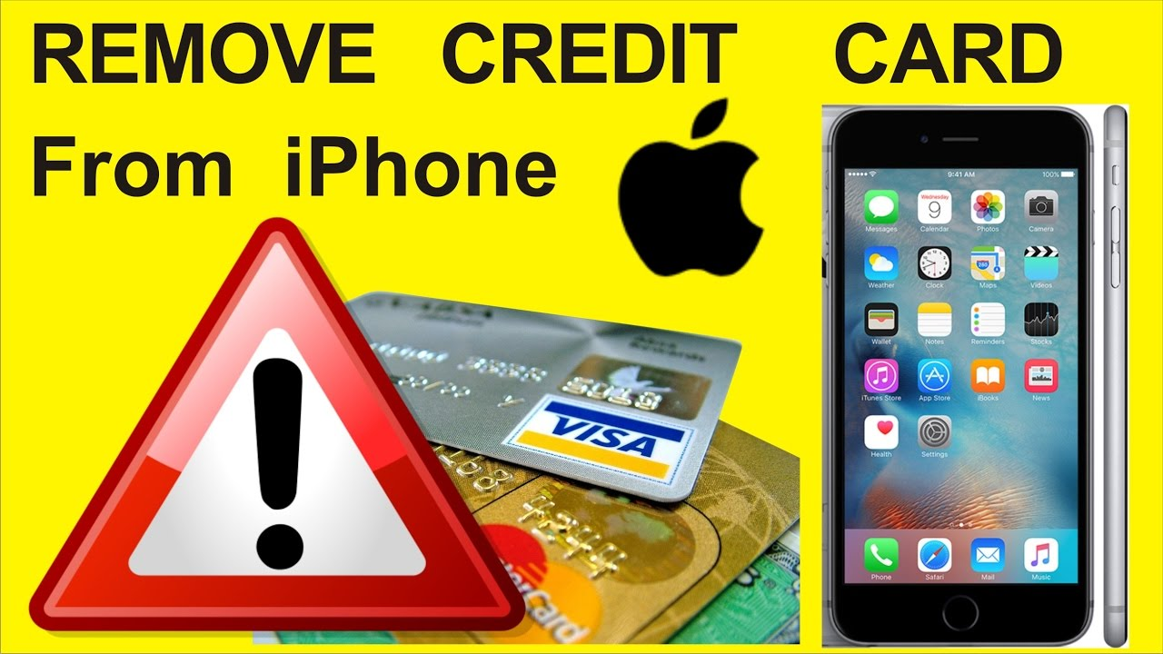 How do you remove a credit card from itunes