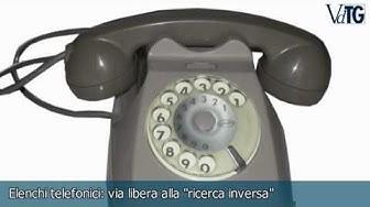 "Elenchi telefonici: via libera alla ""ricerca inversa"""