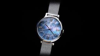 Review đồng hồ Fossil ES4322 mặt số xanh xà cừ hoa văn thời trang size mặt 36mm