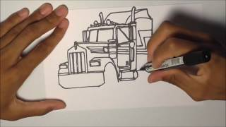 DRAWING TRUCKS!!! Kenworth W900