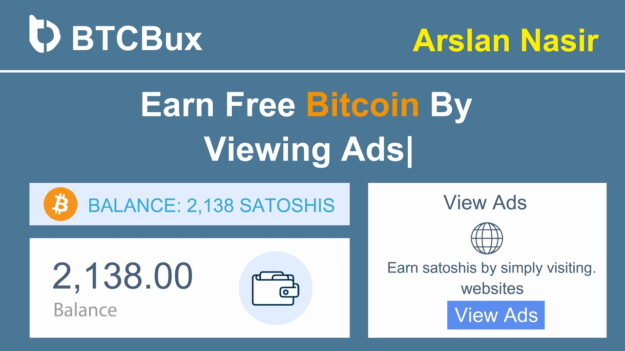 BTCBux.io - Earn Free Bitcoin By Viewing Ads | Earn Daily $100 ...