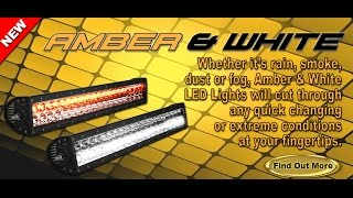 Rigid industries LED E Series Amber / White - Spot Flood Combo Overview
