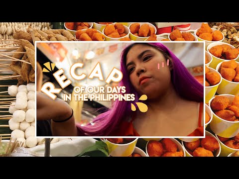 🍝 recap of our days in the philippines: more food, stationery shopping & lawson mukbang! (ep. 3)