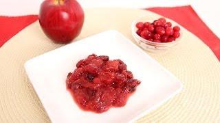 Cherry Apple Cranberry Sauce Recipe - Laura Vitale - Laura In The Kitchen Episode 668