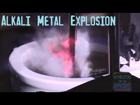 Alkali Metal Explosion - Mythbusters for the Impatient