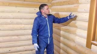 видео Чем лучше конопатить деревянный дом из оцилиндрованного бревна?