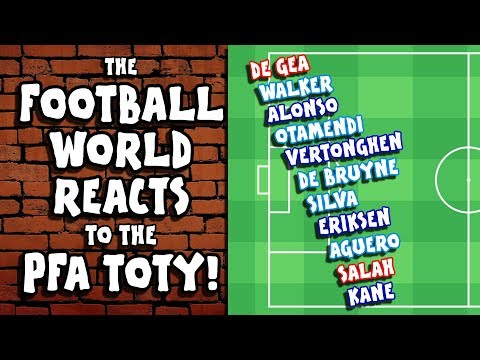 🤣FOOTBALL REACTS to the PFA TOTY!🤣 (Kane, Salah, Aguero and more! PARODY)