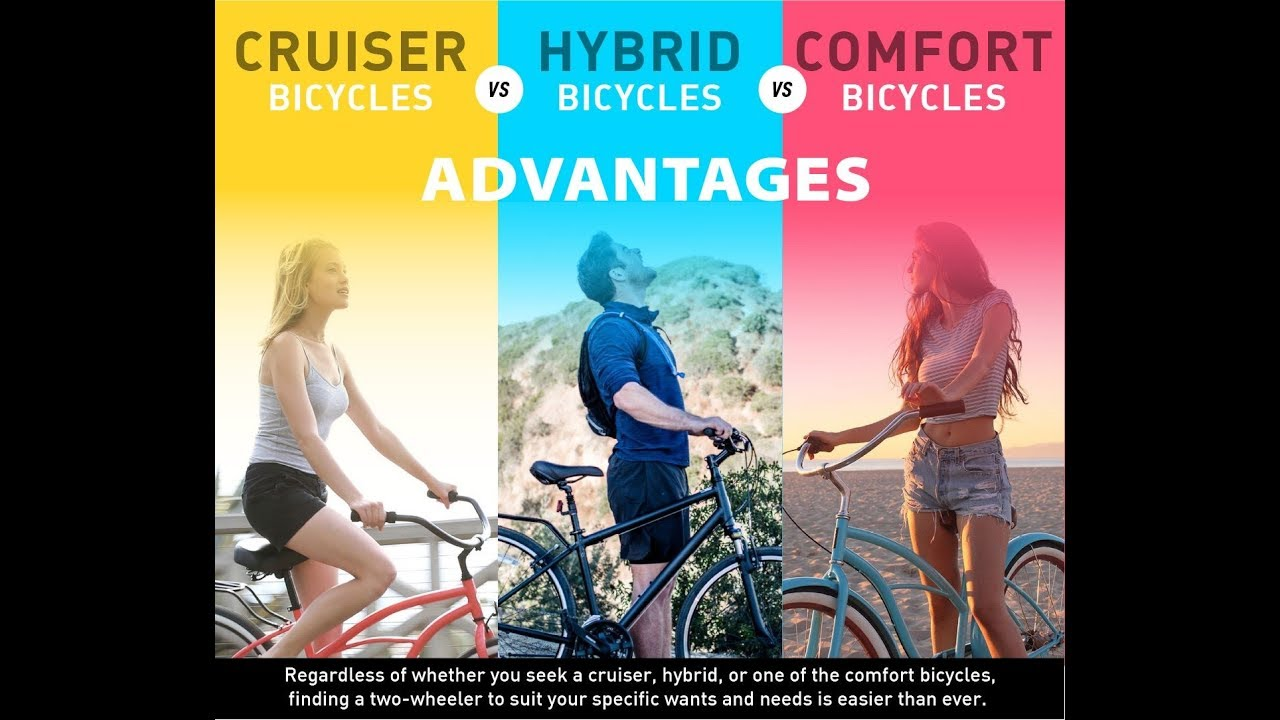 4ce8f1bfda5 Cruiser vs. Hybrid vs. Comfort Bicycles: | Advantages of Each