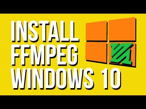 Install FFmpeg On Windows 10 - 2019