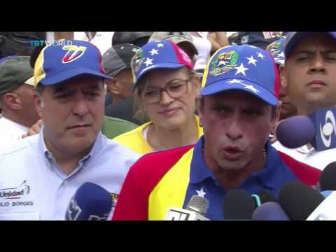 Pro and anti government protests in Venezuelan capital Caracas