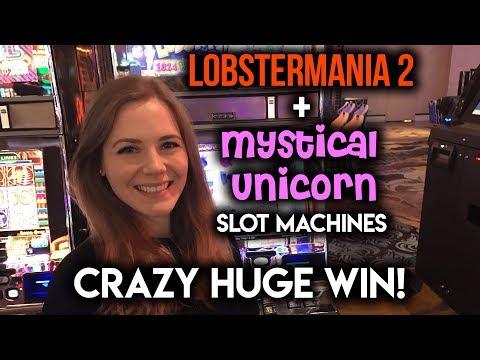 CRAZY HUGE HIT on Mystical Unicorn Slot Machine! Lobster Mania Progressive WIN!!!