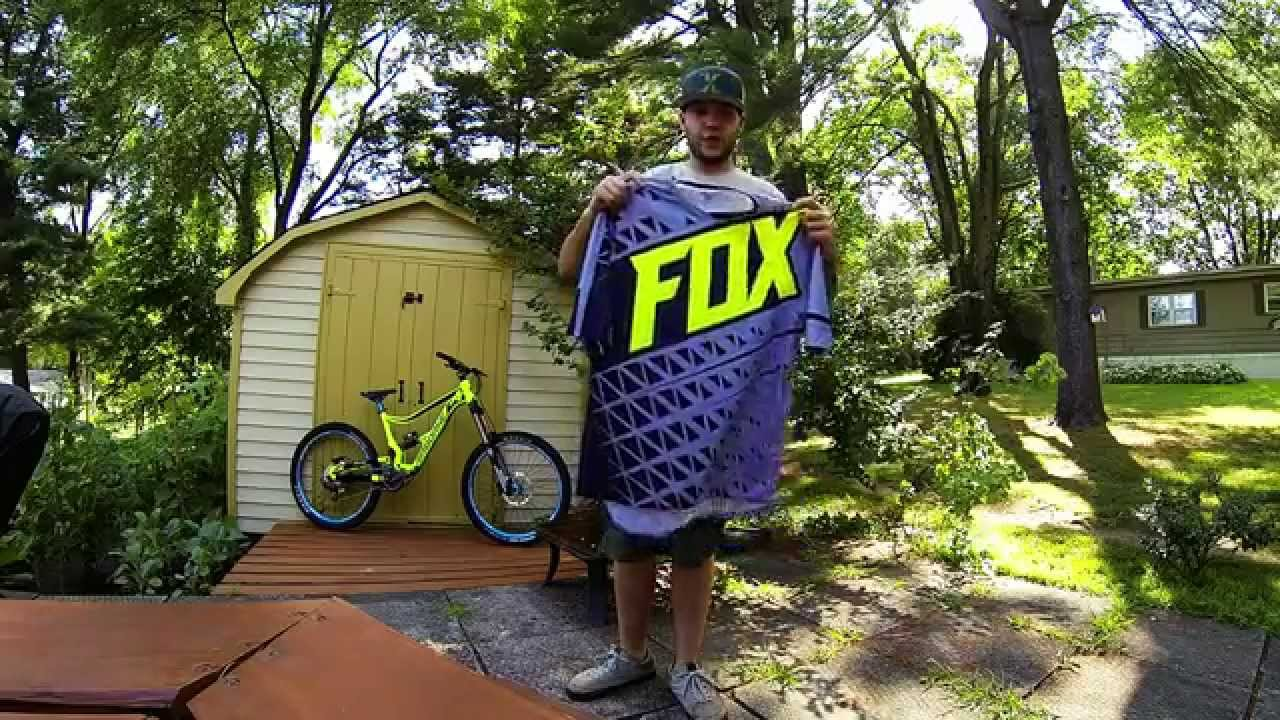 Fox demo DH mountain bike jersey review gopro hero3 black - YouTube 3f8f2afbe