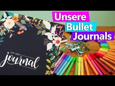 Bullet Journal HAUL deutsch   Eva & Kathis ERSTE Bullet Journals   Kalligrafie Stifte, Fineliner