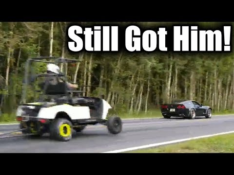 Golf Cart Gives Built Corvette A Massive Head Start In Drag Race