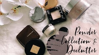 My Powder Collection and Declutter / mature beauty