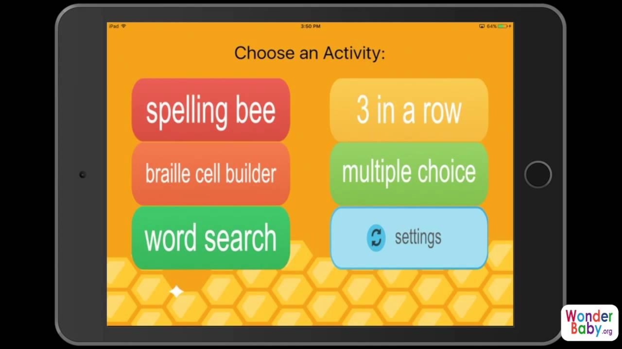 Braille Bee Spelling App